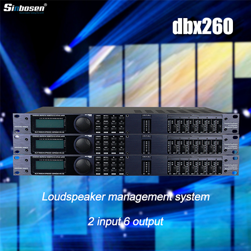 Dbx260 | Potente y eficiente procesador de señal de audio digital.